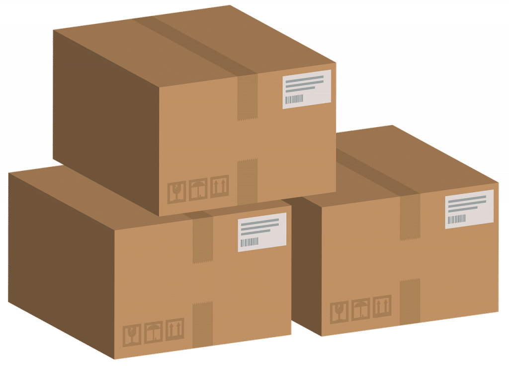3 cartons de livraison